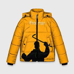 Куртка зимняя для мальчика IFreeman цвета 3D-черный — фото 1