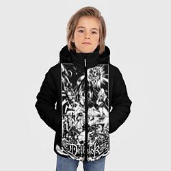 Детская зимняя куртка для мальчика с принтом Dethklok: Metalocalypse, цвет: 3D-черный, артикул: 10134388906063 — фото 2