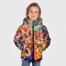 Куртка зимняя для мальчика Ван-Пис цвета 3D-черный — фото 2