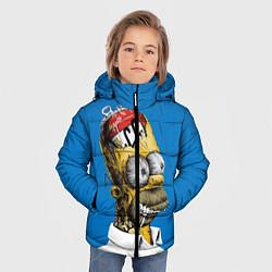 Куртка зимняя для мальчика Duff Brain цвета 3D-черный — фото 2