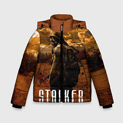 Детская зимняя куртка для мальчика с принтом STALKER: Radiation, цвет: 3D-черный, артикул: 10135204106063 — фото 1