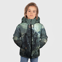 Детская зимняя куртка для мальчика с принтом STALKER, цвет: 3D-черный, артикул: 10135205306063 — фото 2