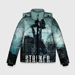 Куртка зимняя для мальчика STALKER: Pripyat цвета 3D-черный — фото 1