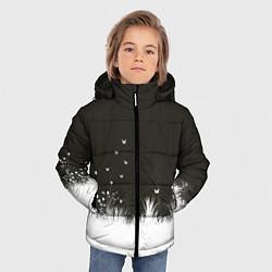 Детская зимняя куртка для мальчика с принтом Ночная полянка, цвет: 3D-черный, артикул: 10135253106063 — фото 2