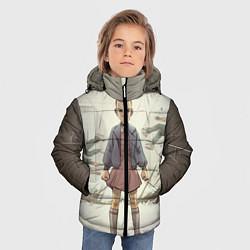 Детская зимняя куртка для мальчика с принтом Girl-boy, цвет: 3D-черный, артикул: 10135945706063 — фото 2