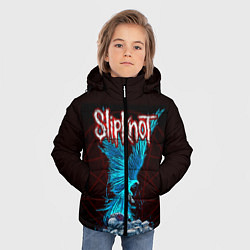 Куртка зимняя для мальчика Орел группа Slipknot цвета 3D-черный — фото 2