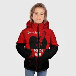Куртка зимняя для мальчика Poison heart цвета 3D-черный — фото 2