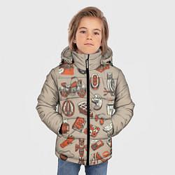 Куртка зимняя для мальчика Twin Peaks Pack цвета 3D-черный — фото 2