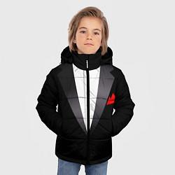 Куртка зимняя для мальчика Смокинг мистера цвета 3D-черный — фото 2