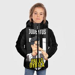 Куртка зимняя для мальчика FC Juventus: Paulo Dybala цвета 3D-черный — фото 2