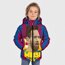 Детская зимняя куртка для мальчика с принтом FCB Lionel Messi, цвет: 3D-черный, артикул: 10139223506063 — фото 2