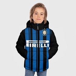 Детская зимняя куртка для мальчика с принтом Inter FC: Home 17/18, цвет: 3D-черный, артикул: 10139225106063 — фото 2