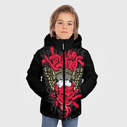 Куртка зимняя для мальчика Горгона Медуза цвета 3D-черный — фото 2