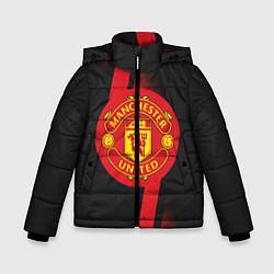 Куртка зимняя для мальчика FC Manchester United: Storm цвета 3D-черный — фото 1