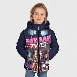 Куртка зимняя для мальчика Payday Two цвета 3D-черный — фото 2