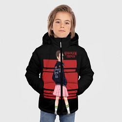 Детская зимняя куртка для мальчика с принтом Очень странные дела, цвет: 3D-черный, артикул: 10141030906063 — фото 2
