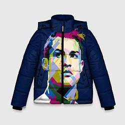 Куртка зимняя для мальчика Cristiano Ronaldo Art цвета 3D-черный — фото 1
