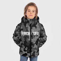 Куртка зимняя для мальчика Rainbow Six: Grey Mozaic цвета 3D-черный — фото 2