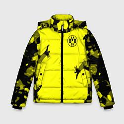 Куртка зимняя для мальчика FC Borussia Dortmund: Yellow Original цвета 3D-черный — фото 1