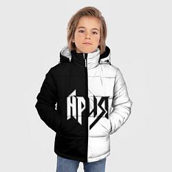 Детская зимняя куртка для мальчика с принтом Ария Ч/Б, цвет: 3D-черный, артикул: 10142844306063 — фото 2
