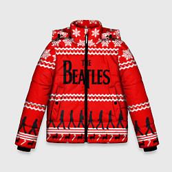 Куртка зимняя для мальчика The Beatles: New Year цвета 3D-черный — фото 1