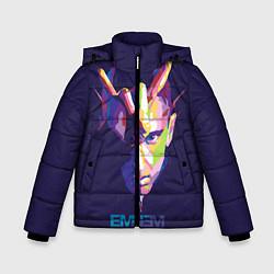 Куртка зимняя для мальчика Eminem V&C цвета 3D-черный — фото 1
