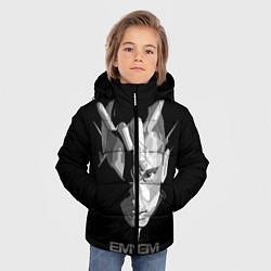 Куртка зимняя для мальчика Eminem B&G цвета 3D-черный — фото 2