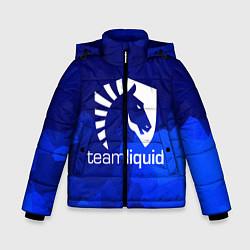 Детская зимняя куртка для мальчика с принтом Team Liquid: Polygons, цвет: 3D-черный, артикул: 10143164106063 — фото 1