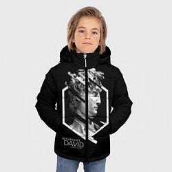 Детская зимняя куртка для мальчика с принтом Renaissance David, цвет: 3D-черный, артикул: 10145987906063 — фото 2