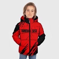 Куртка зимняя для мальчика R6S: Red Style цвета 3D-черный — фото 2