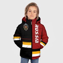 Детская зимняя куртка для мальчика с принтом Russian Empire, цвет: 3D-черный, артикул: 10147133506063 — фото 2