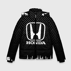 Куртка зимняя для мальчика Honda: Black Side цвета 3D-черный — фото 1