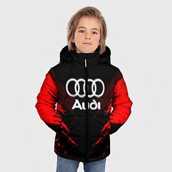 Куртка зимняя для мальчика Audi: Red Anger цвета 3D-черный — фото 2