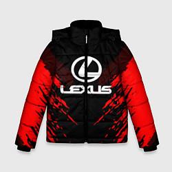 Куртка зимняя для мальчика Lexus: Red Anger цвета 3D-черный — фото 1