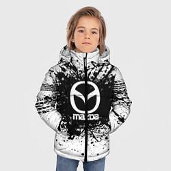 Детская зимняя куртка для мальчика с принтом Mazda: Black Spray, цвет: 3D-черный, артикул: 10147676306063 — фото 2