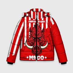 Куртка зимняя для мальчика Сейчас будет мясо цвета 3D-черный — фото 1