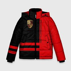 Куртка зимняя для мальчика Porsche: Red Sport цвета 3D-черный — фото 1