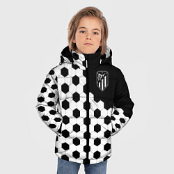 Куртка зимняя для мальчика FC Atletico Madrid: Hexa Style цвета 3D-черный — фото 2