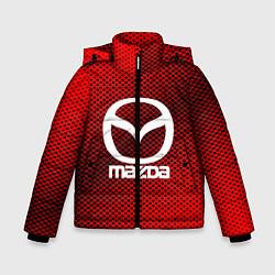 Детская зимняя куртка для мальчика с принтом Mazda: Red Carbon, цвет: 3D-черный, артикул: 10150547906063 — фото 1