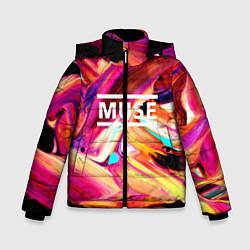 Куртка зимняя для мальчика MUSE: Neon Colours - фото 1
