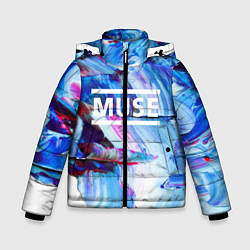 Куртка зимняя для мальчика MUSE: Blue Colours цвета 3D-черный — фото 1