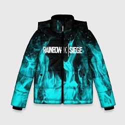 Куртка зимняя для мальчика R6S: Turquoise Flame цвета 3D-черный — фото 1