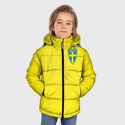 Детская зимняя куртка для мальчика с принтом Сборная Швеции: Домашняя ЧМ-2018, цвет: 3D-черный, артикул: 10151654706063 — фото 2