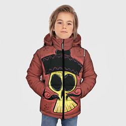 Детская зимняя куртка для мальчика с принтом Dia de los Muertos, цвет: 3D-черный, артикул: 10152402306063 — фото 2