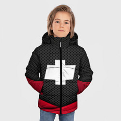 Куртка зимняя для мальчика Chevrolet: Grey Carbon цвета 3D-черный — фото 2