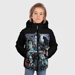 Куртка зимняя для мальчика Uncharted 4 цвета 3D-черный — фото 2