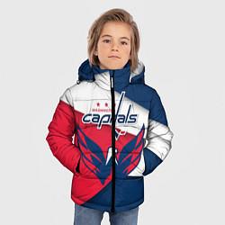 Детская зимняя куртка для мальчика с принтом Washington Capitals, цвет: 3D-черный, артикул: 10152813106063 — фото 2