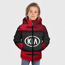Детская зимняя куртка для мальчика с принтом KIA Collection, цвет: 3D-черный, артикул: 10152928906063 — фото 2