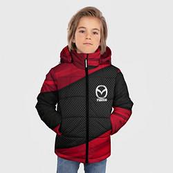 Детская зимняя куртка для мальчика с принтом Mazda: Red Sport, цвет: 3D-черный, артикул: 10153000306063 — фото 2