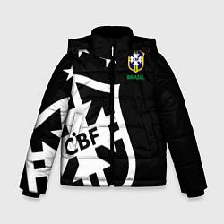 Детская зимняя куртка для мальчика с принтом Brazil Team: Exclusive, цвет: 3D-черный, артикул: 10153704706063 — фото 1
